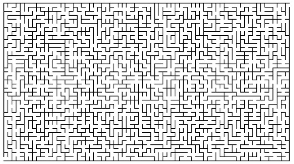 What are the algorithms to generate a random maze that