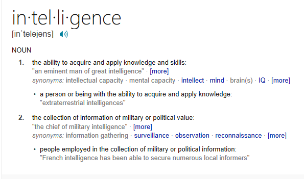 the main definitions and concepts of intellect The concept of security  investigation by making true 'by definition' what should be open to empirical inquiry ( 5) concepts should remain reasonably close to ordinary language  concept of security is a fundamentally different kind of intellectual exercise from specifying the conditions under which security may be attained indeed.