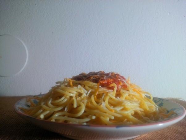 Jack off in noodles