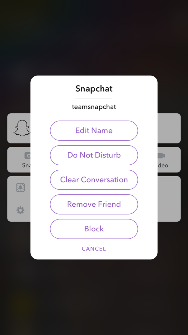 How to change a friend's Snapchat display name back to their