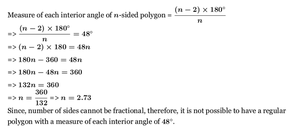 Regular Polygon With A Measure Of Each