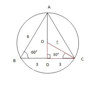 how to draw a circumscribed circle in a right triangle