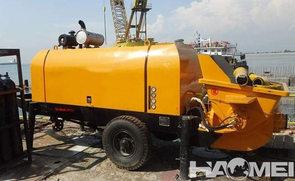 What are the advantages of Haomei HB trailer concrete pump for sale