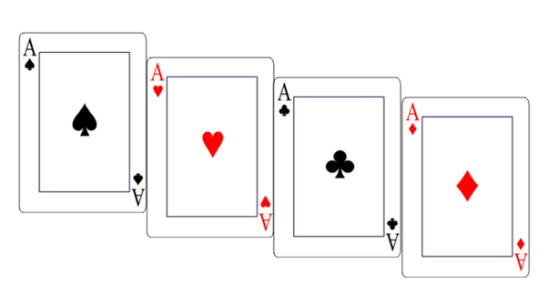 how many ace are there totally in a deck of cards quora