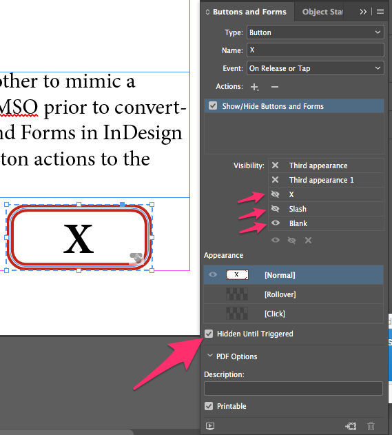 How to create an interactive checkbox in Adobe InDesign CC
