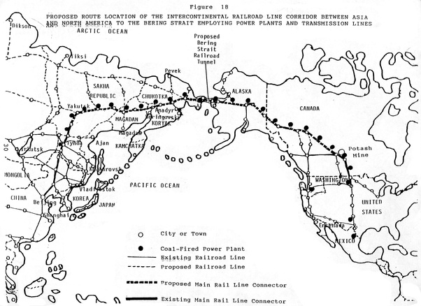 and american railway network via alaska and canadian western region then we can speak of the said project as of something remotely probable