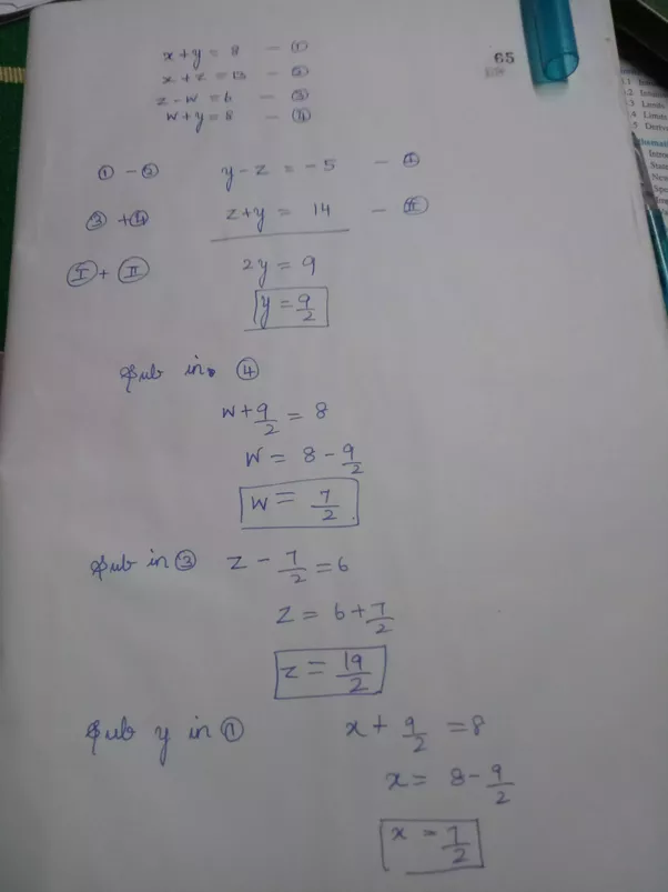 How To Solve The Equations For X Y 8  X Z 13  Z