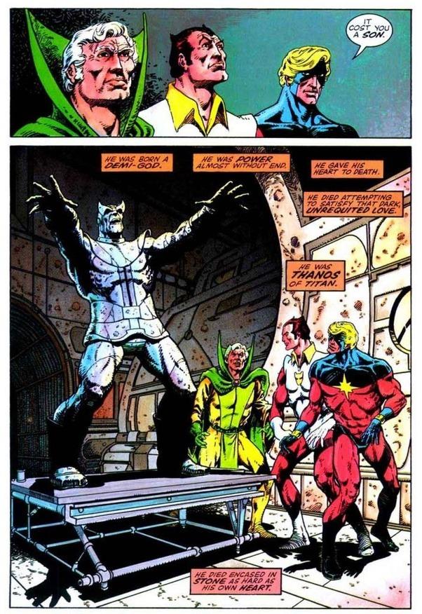 captain marvel kills thanos