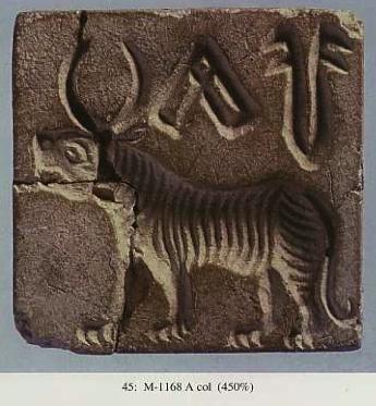 Image result for tiger indus script