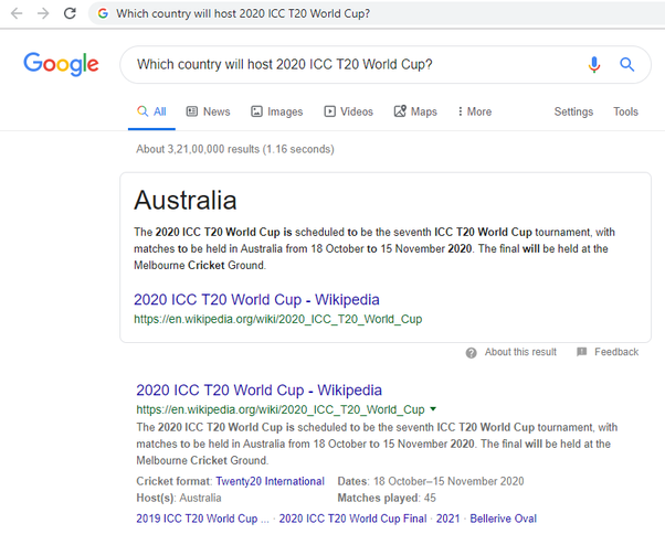 World Cup Wiki 2020.Which Country Will Host 2020 Icc T20 World Cup Quora