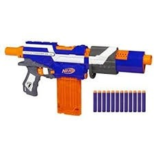 If you want to get a flywheel blaster the stryfe is your jack of all  trades. Its cheap, it has stock, barrel and rail attachment points and it  has alot of ...