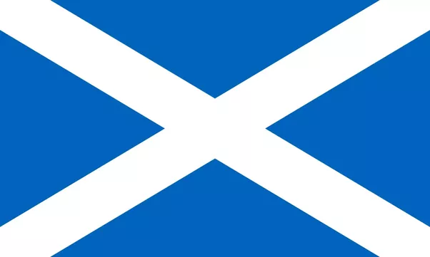 Why is the Scottish flag blue and white? What does it ...
