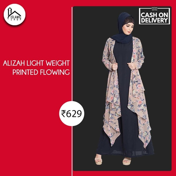 fe033f2130f1 ... Best Online Islamic Shopping Experience in India, Offering A Wide Range  of Hijabs, Abayas, Designer Abayas, Modest Abayas, Arabian Abayas, Scarves,  ...