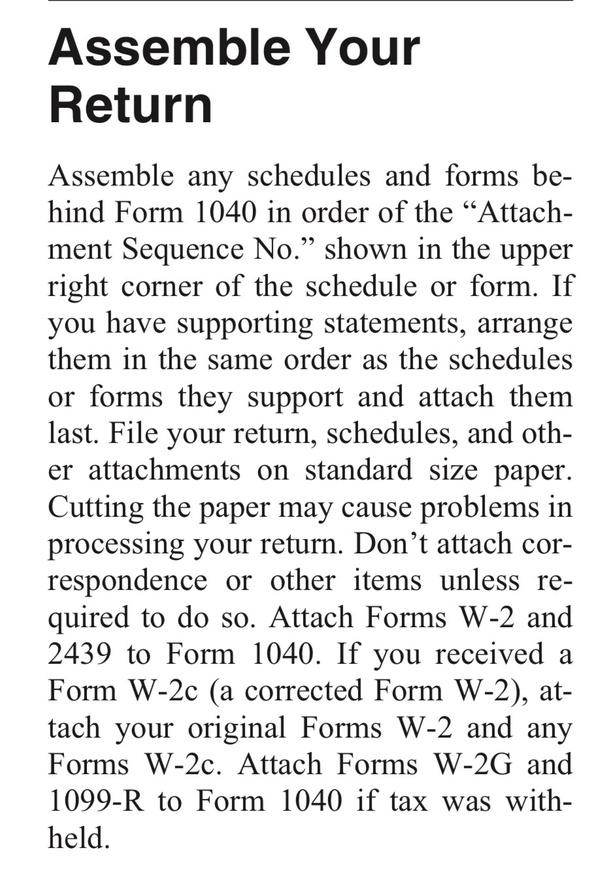 Internal Revenue Service (IRS): How do you attach a W2 form