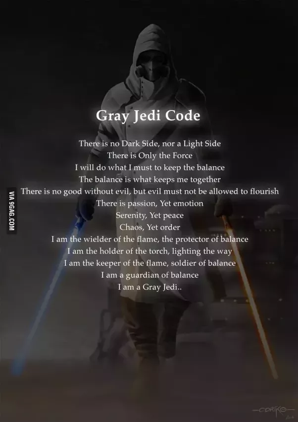 Which code is better the sith code or jedi code quora there are various versions of the gray jedi code but all more or less the same principle balance fandeluxe Gallery