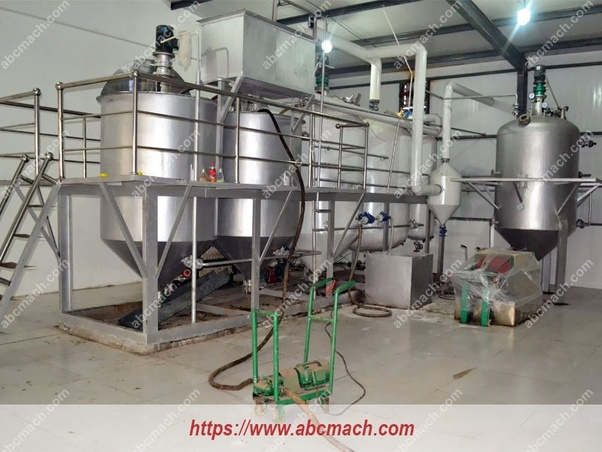 What is the cost of setting up a small scale edible oil