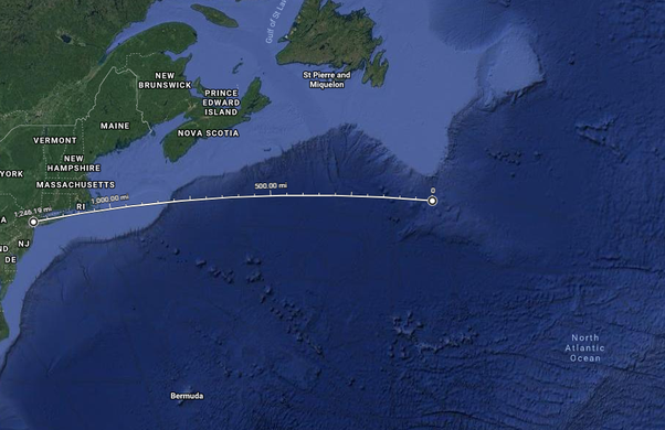 How Many Miles From >> How Far From New York Was The Titanic When It Sank Quora