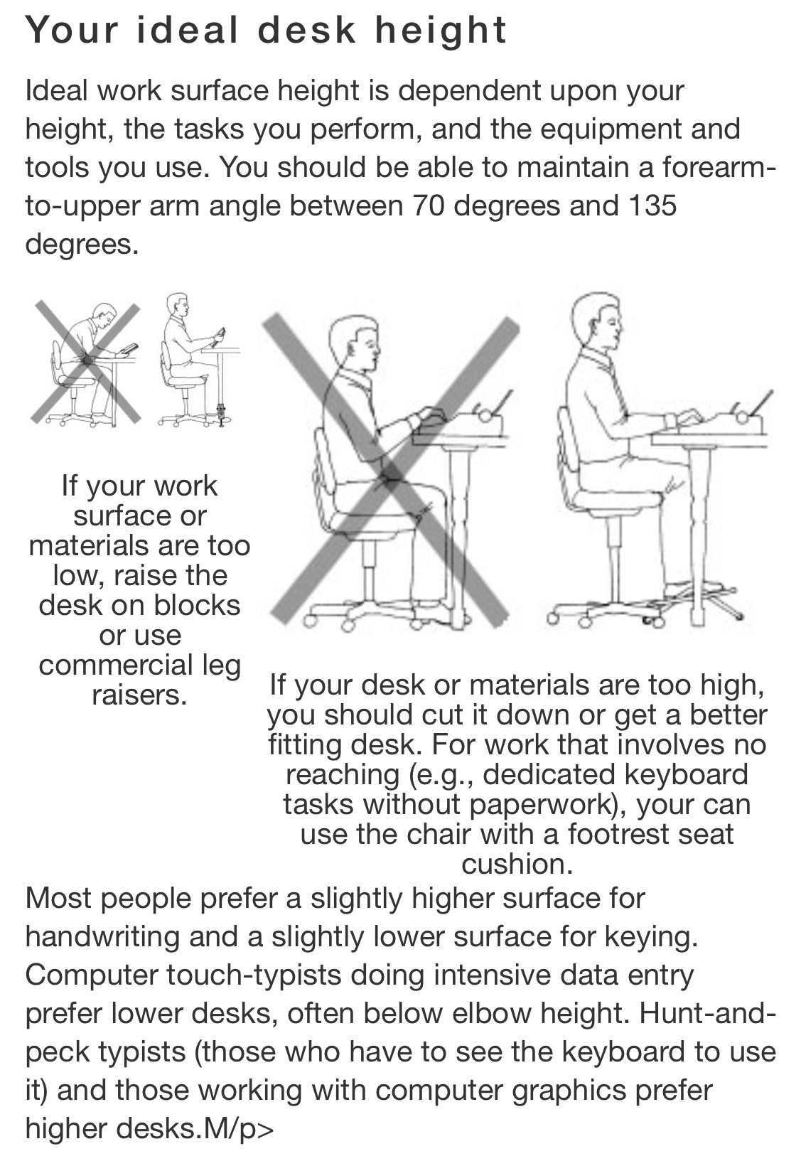 Typical Height Of An Office Desk, What Is The Best Height For A Work Desk