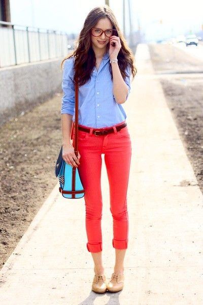 Womens Coral Blouse