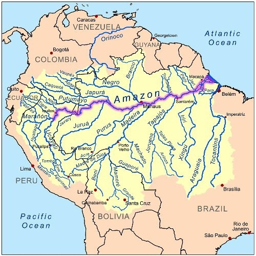 What Is The Largest River In The World Quora - 3 longest rivers in the world