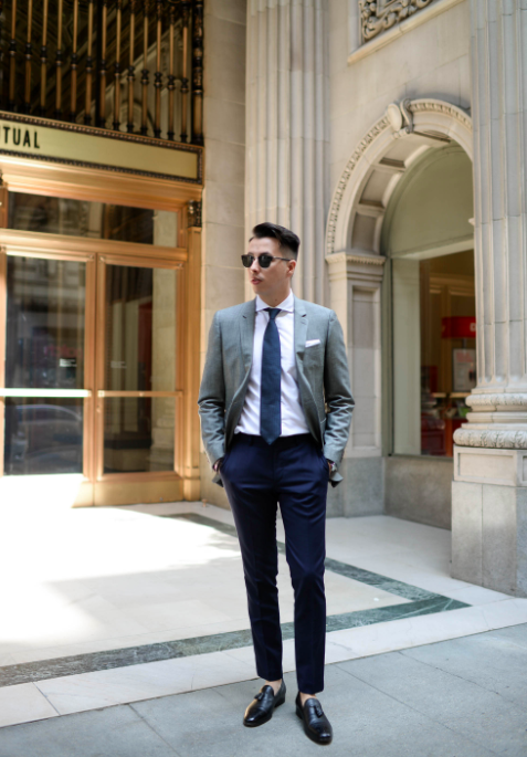 is it ok to wear a black suit jacket with a different pair