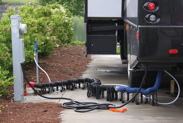 How Is Water Electricity And Sewer Hooked Up To An Rv