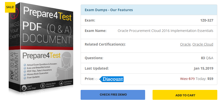 Where can I download the Oracle 1Z0-327 exam dumps questions