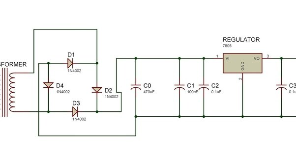 Lm7805 Circuit Diagram | Can A Phone Charge From 0 To 100 If You Use An Lm7805 Voltage