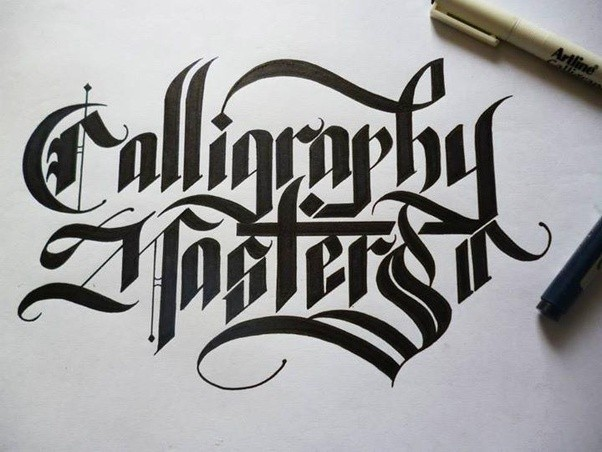 What is the art of writing names fancy called quora if you are thinking of the following examples this type of writing is called calligraphy expocarfo Choice Image