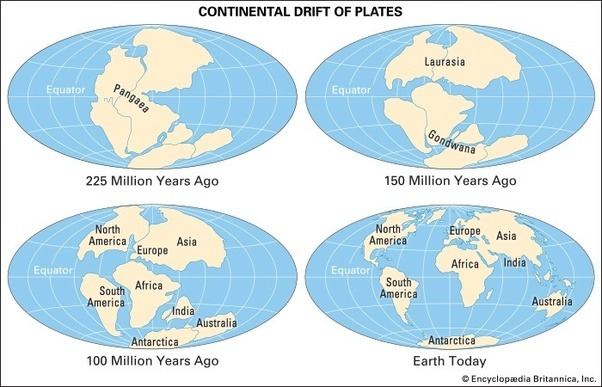 If all the continents were at one time joined as supercontinent a simple web search would lead you to many maps of the surface of the earth over time gumiabroncs Gallery