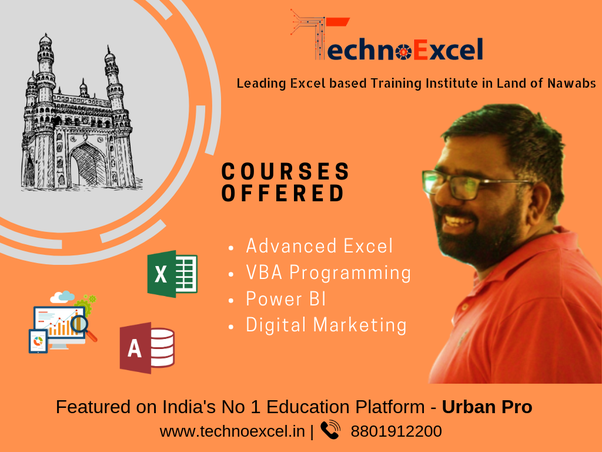 Which is the best institute for VBA Excel in Hyderabad? - Quora