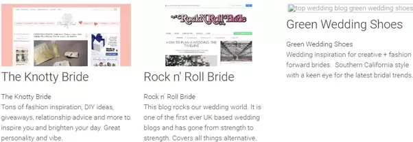 What are the most popular wedding blogs quora the most popular international wedding blogs which appeared at the top in google search rankings of 2015 they start from style me pretty which is the junglespirit Choice Image