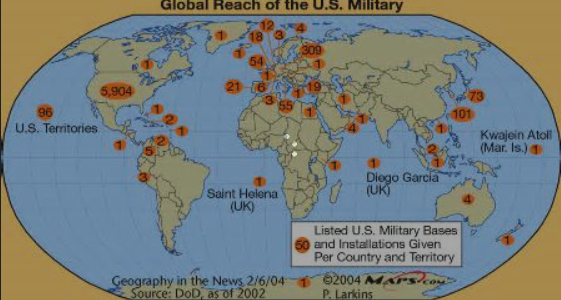 Where does the united states have a permanent military presence for a graphic map showing the us bases publicscrutiny Image collections