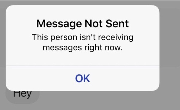 What happens when it says \u201cthis person is not receiving messages at