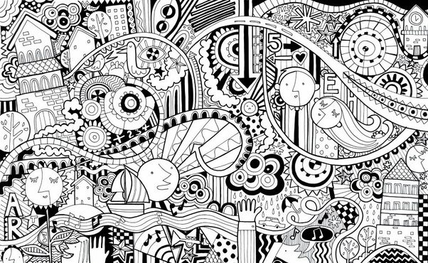 what is the difference between doodle and mandala quora