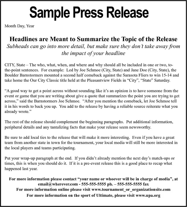 What is the difference between press conference and press for Press release brief template