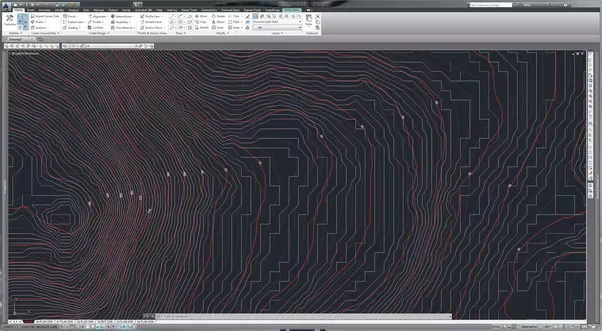 how to draw contour lines in civil 3d
