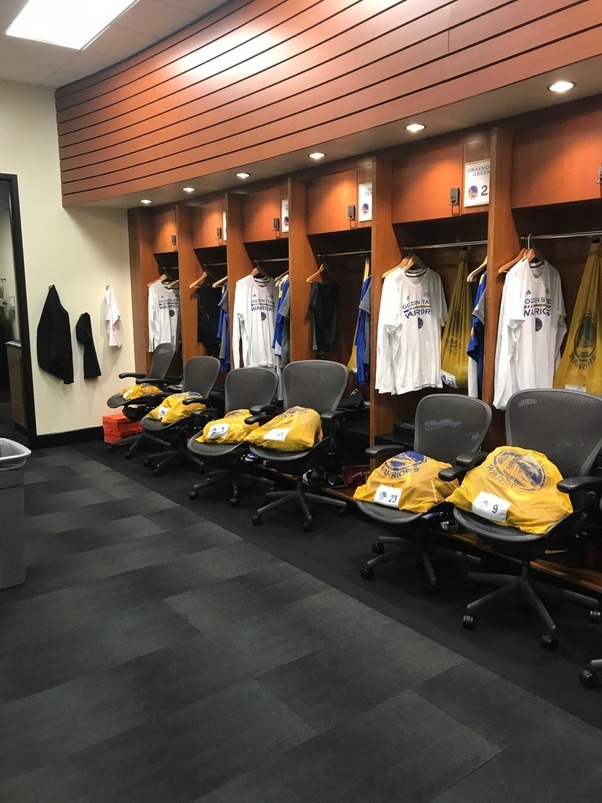 What does the NBA players locker room look like with all the stuff ...