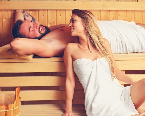 Steifen sauna Sauna? (Penis,