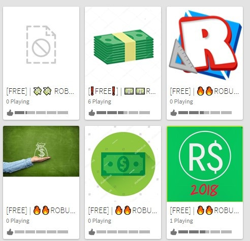 For Roblox, are all those games saying 'free Robux' all ...
