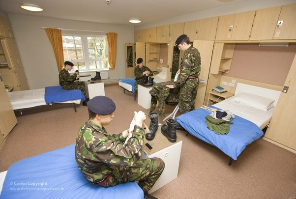 Does the British Army really have mixed dorms as in the TV show 'Our