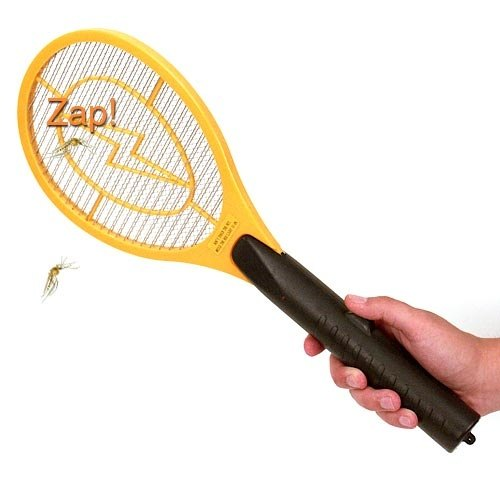 3 Layers Rechargeable Anti Mosquito Kill Racket With Led Torch