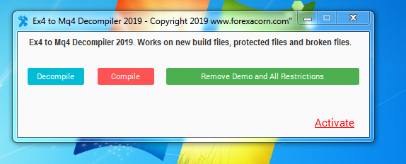How to decompile a new build 600+ Forex robot and a Forex