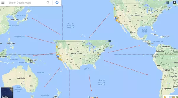 What would happen if one day an exact clone of the united states maps and a little copy n paste we get the image above a copy of the continental usa is pasted into the middle of the north and south pacific oceans gumiabroncs Gallery