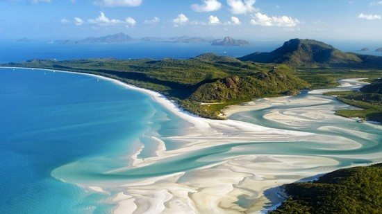 Whitehaven Beach Is Known For Its White Sands The A 7 Km Stretch Along Whitsunday Island Accessible By Boat From Mainland