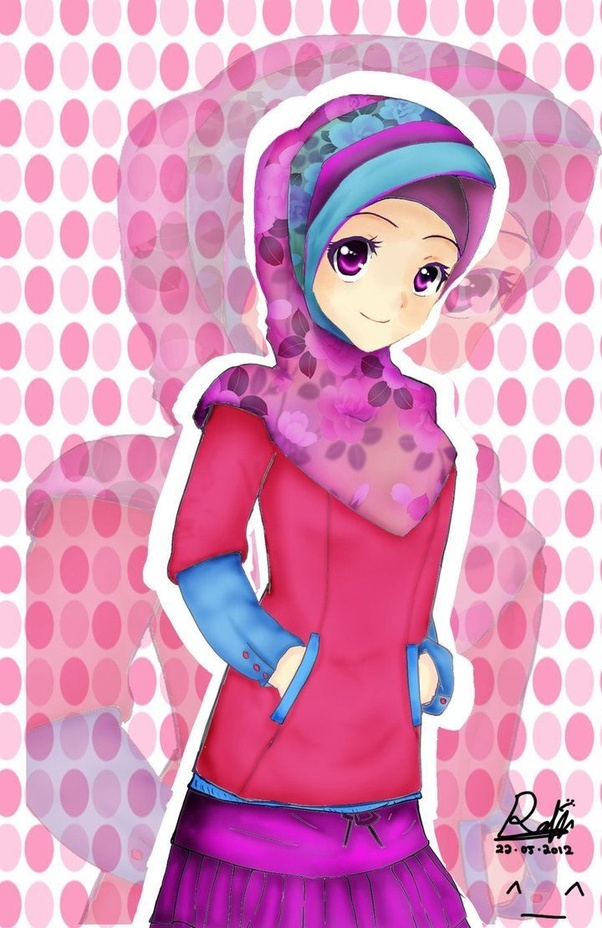 All In Hijab Style Anime Is Cute And I Am A Fan Of The Art As Long Girl Also Looks Muslimexcept For