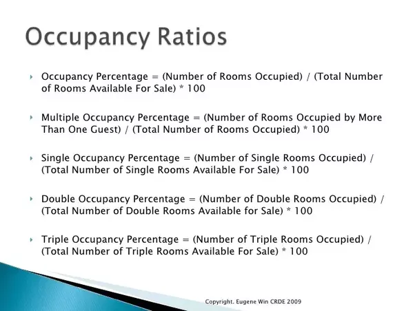 how is a hotel u2019s occupancy percentage formula determined