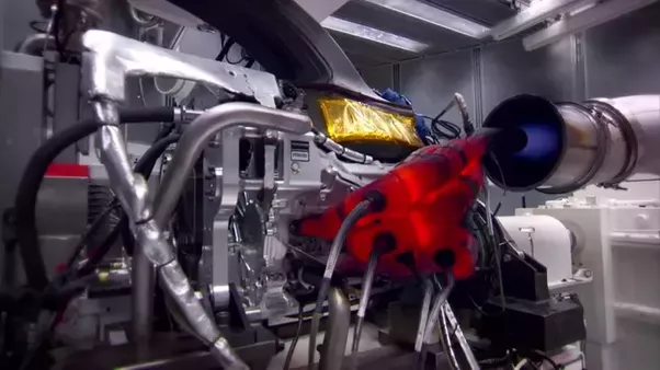 This Is The Picture Of An F1 Engine Running At High Rpm On A Dyno