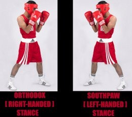 What difference is there in the normal boxing stance and the