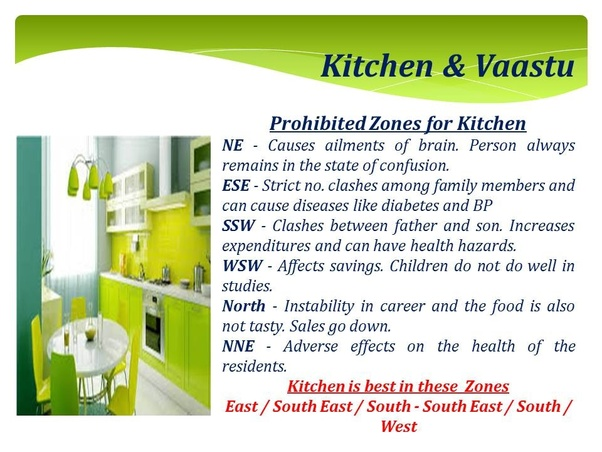 What Is The Vastu For A Kitchen Located In The North West Quora